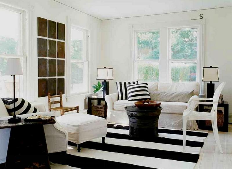 covor alb negru